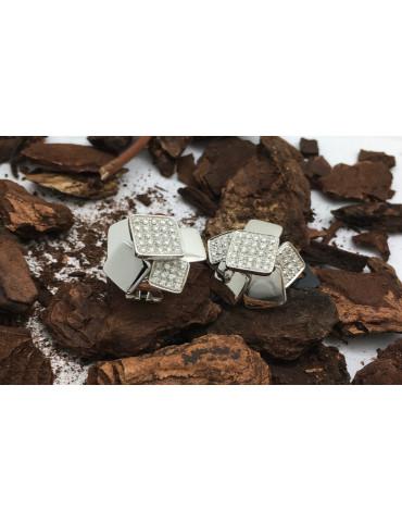 Pendientes Cube Oro Blanco...