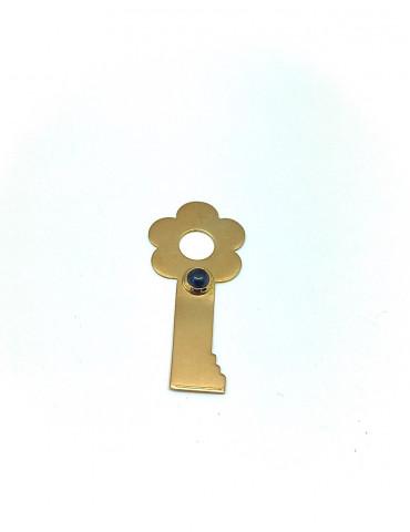 Colgante Llave-Flor, Oro y...