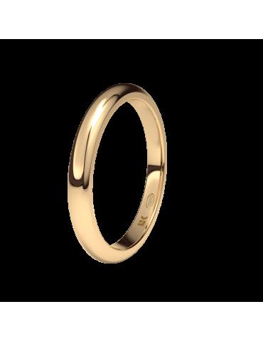 Alianza oro rosa 2,5mm